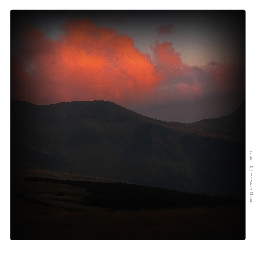 Mountain, Red Clouds